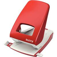 Leitz New NeXXt Strong Metal Office Punch 4mm Red