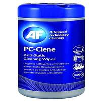 AF PC-Clene Anti-Static Cleaning Wipes Tub (100 Pack) PCC100