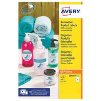 Avery Removable Labels Round 63.5mm 8 Per Sheet White Pack of 200 L4852REV-25