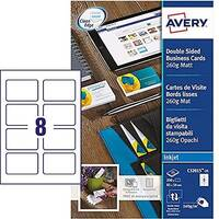 Avery C32015-25 Business Cards 85 x 54mm Matt Inkjet 8 per Sheet 260gsm 200 Cards