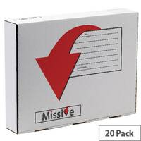 Missive Value Garment Mailing Boxes 345x445x77mm White Pack of 20
