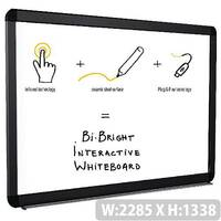 Bi-Office Bright 96 Interactive White Board eRED3 – Touch Sensitive, Durable, 25 Year Surface Warranty, 5 Year Technology Warranty, Plug And Play, 2GB Storage, LED, Wi-Fi, USB, Scratch Resistant &1793 x 1326m (BI1591805B)