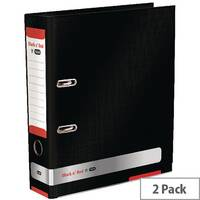 Black n Red A4 Lever Arch File 70mm Pack of 2 BX810412