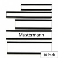Franken Magnetic Name Plates 75 x 20mm Brown Pack of 10 C163