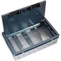 4 Compartment Raised Access Floor Box 303mmx221mm