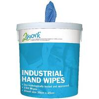 2Work Industrial Degreasing Hand Wipes Bucket Tube Pack 1 (Contains 150 Wipes) EBMH150