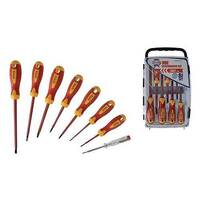Faithfull Soft Grip VDE Screwdriver Set of 8 in a Case