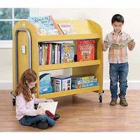 Library Trolley with Display Shelf