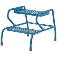 Fort Stable Steps 2 Step No Handrail Height 436mm Blue Painted GS3002M