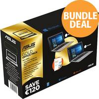 "Asus Laptop Bundle, 15.6"", 4GB RAM, HDD 1TB, Display 1366 x768, Windows 10 Home, Microsoft Office 365"