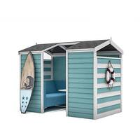 Frovi HUDDLE BEACH HUT 4 Seater Meeting Pod With Low Back Seating H1930xW2440xD1490mm - Fabric Band B