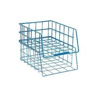 Blue Universal Large Capacity Stacking Wire Tray