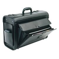Pilots Case PVC Black Briefcase