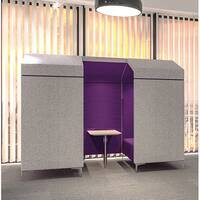 Frovi HUDDLE SHED 4 Seater Meeting Pod With Chrome Feet H1850xW2280xD1360mm 440mm Seat Height - Fabric Band B