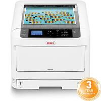 OKI C834NW A3 Colour Laser Printer - Print speed (Colour A4) 36pp/m - USB, Network, Wireless Wi-Fi - 600 x 1,200 Resolution