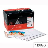 Plus Fabric C4 Envelopes White Board Backed Peel and Seal (Pack of 125)