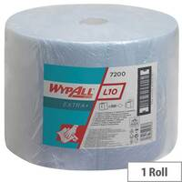 Kimberly-Clark Wypall L20 Large Tissues Refill Paper Roll 1000 Sheets Blue (Pack of 1) 7200