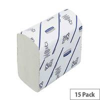 Scott Xtra Paper Hand Towels I-Fold 1-Ply White 240 Towels Per Sleeve 15 Sleeves (3600 Sheets) 6669