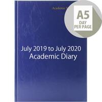 Academic Diary Day Per Page 2019-20 A5 Blue KF1A5ABU18