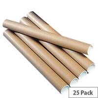 Mailing Tubes For Documents Up To A2 Size 450x50mm Brown Pack of 25