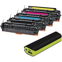 HP 304A Compatible 4 Colour Laser Toner Q-Connect CC530A With Free Reviva Powerbank
