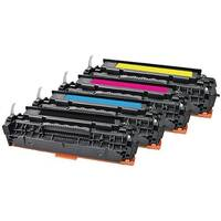 HP 304A Compatible 4-Colour Toner Cartridges Q-Connect CC530A