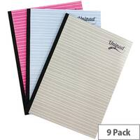 Pukka Unipad Refill Pad Sidebound A4 400 Pages Pack of 9 URP200
