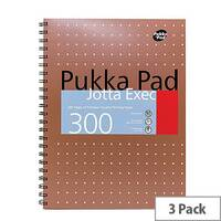 Pukka Pad Copper Executive Jotta Pad 3 Pack
