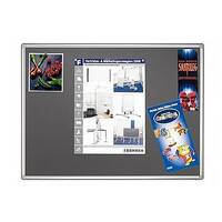 Double Sided Felt Notice Board 1200 x 900mm Franken Pro Partition System Grey