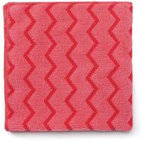 Rubbermaid HYGEN Microfiber Cloth With Zig-zag Scrubbing Strips Red