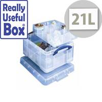 Really Useful 21 Liter Box 6 part &12 part Dividers Clear In Colour. Ideal For Use In Hospitals, Offices, Schools, Paramedics, Art Supplies &More.