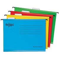 Rexel  Classic Suspension Files Foolscap Red Pack of 25 2115592