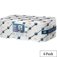 Tork Reflex Centrefeed Multipurpose Wiping Paper Rolls 1-Ply 113.9m White (6 Rolls) 473412
