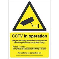 Warning Sign Data Protection Act-Compliant CCTV A5 Self-Adhesive