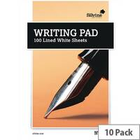 Medium Writing Pad Ruled 100 Sheet Pack of 10 1720 A5