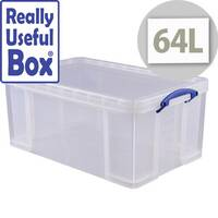 Really Useful Box 64 Litre Capacity Transparent Container