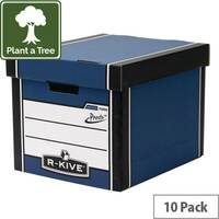 Premium Presto Tall Storage Box Blue HxWxD mm: 303x342x400
