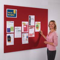 Frameless Felt Noticeboard 1200x1800mm (Hxw) Red