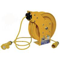 110V Heavy Duty Spring Rewind Cable Reel 15M Long
