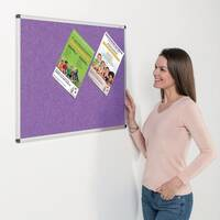 Eco-Colour Aluminium Framed Resist-A-Flame Board 1200x1500mm Purple