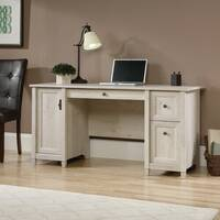 Computer Home Office Desk In Chalked Wood Effect
