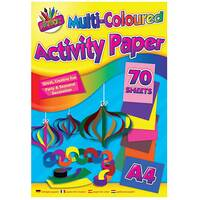Art Box Activity Paper Pad A4 Assorted Pack of 12 TAL06872