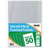 A4 Punched Pockets 30 Micron Pack of 500 301600