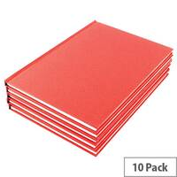 Manuscript Book A5 Ruled Feint Pack of 10 WX01061