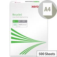 Xerox Recycled A4 Paper 80gsm White Ream Pack of 500 003R91165