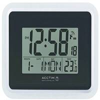 Acctim Avanti RC Desk Clock Silver/Black 74467