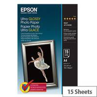Epson Ultra Glossy Photo Paper - Glossy - A4 (210 x 297 mm) 15 sheet(s) photo paper - for Expression Home HD XP-15000; Expression Premium XP-540, 6000, 6005, 900