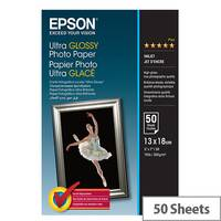 Epson Ultra Glossy Photo Paper - Glossy - 130 x 180 mm 50 sheet(s) photo paper - for Expression Home HD XP-15000; Expression Premium XP-540, 6000, 6005, 900; SureColor P800
