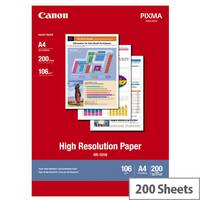 Canon HR-101 - Coated - A4 (210 x 297 mm) 200 sheet(s) paper - for PIXMA IP4000, iP6210, iP6310, iP8500, MG2555, MG8250, MP110, MP130, MP750, MP780; S400