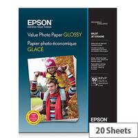 Epson Value - Glossy - 100 x 150 mm - 183 g/m² - 20 sheet(s) photo paper - for Epson L382, L386, L486; Expression Home HD XP-15000; Expression Premium XP-900